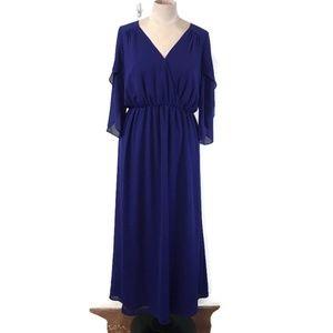 Modcloth Lace & Mesh Chiffon Maxi Dress. 2X
